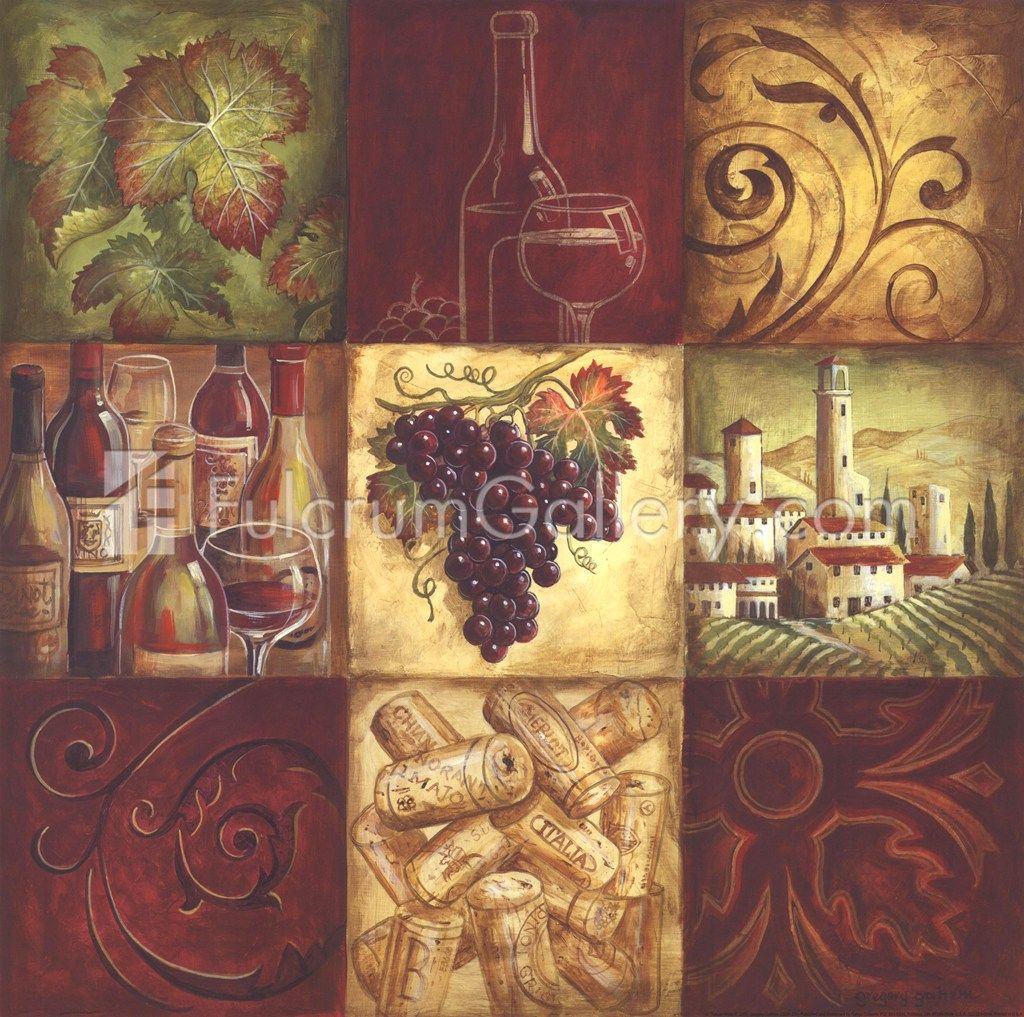 Gregory gorham tuscan wine ii wine room and wine decor