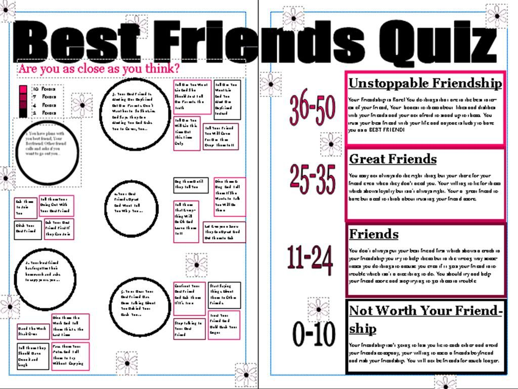 best friends forever quiz