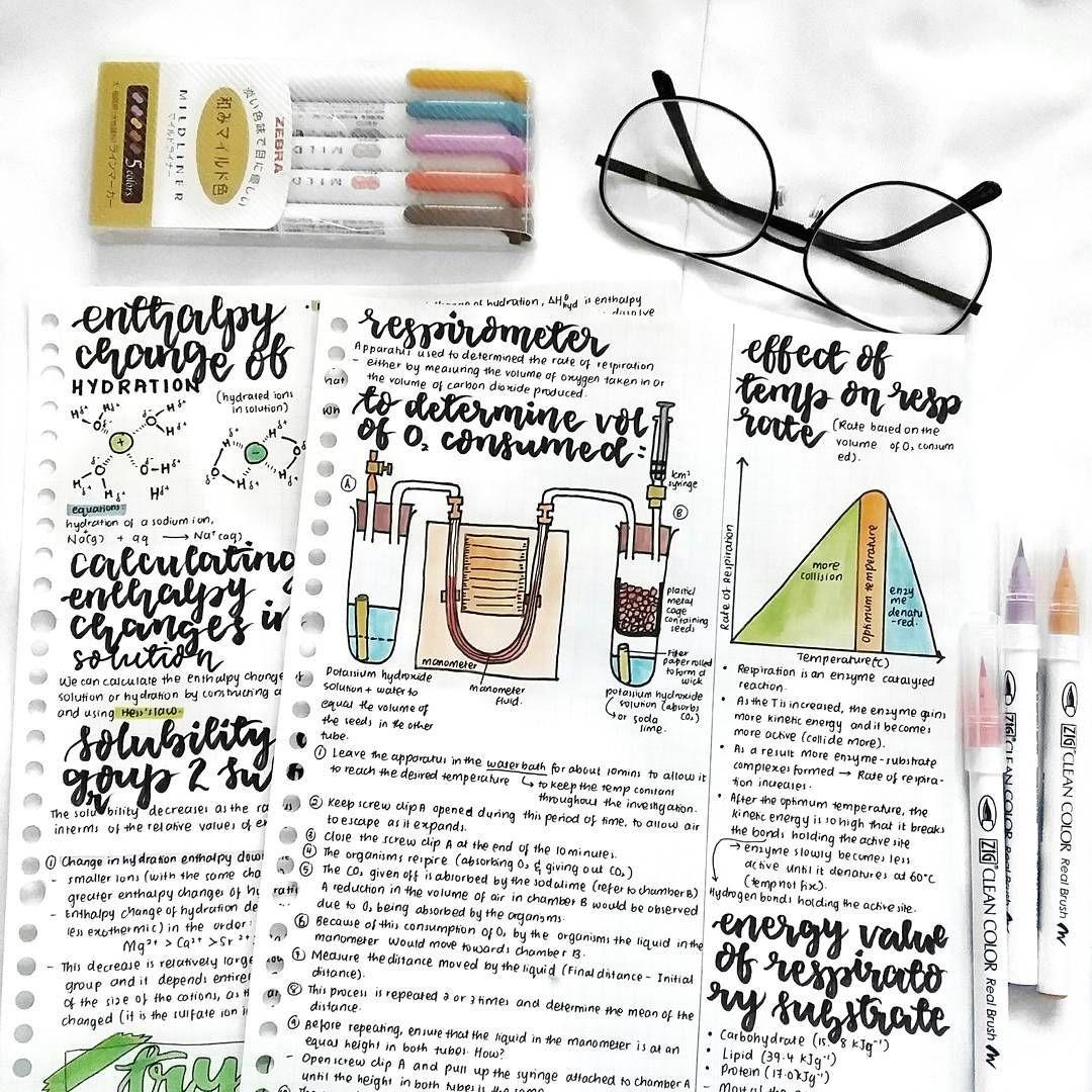 Chem And Bio Study Notes Studygram Follow