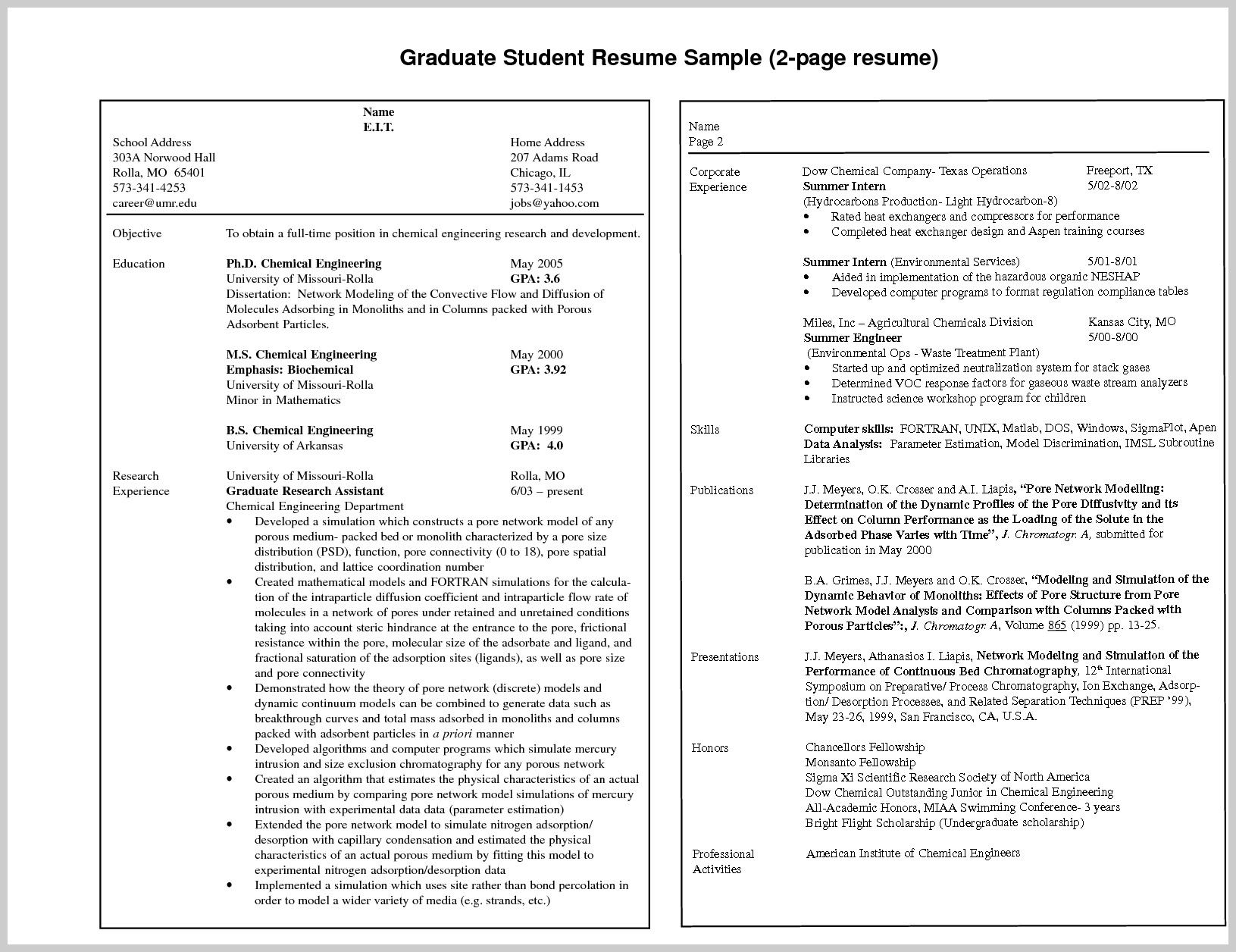 3 Page Resume Format For Freshers Good resume examples