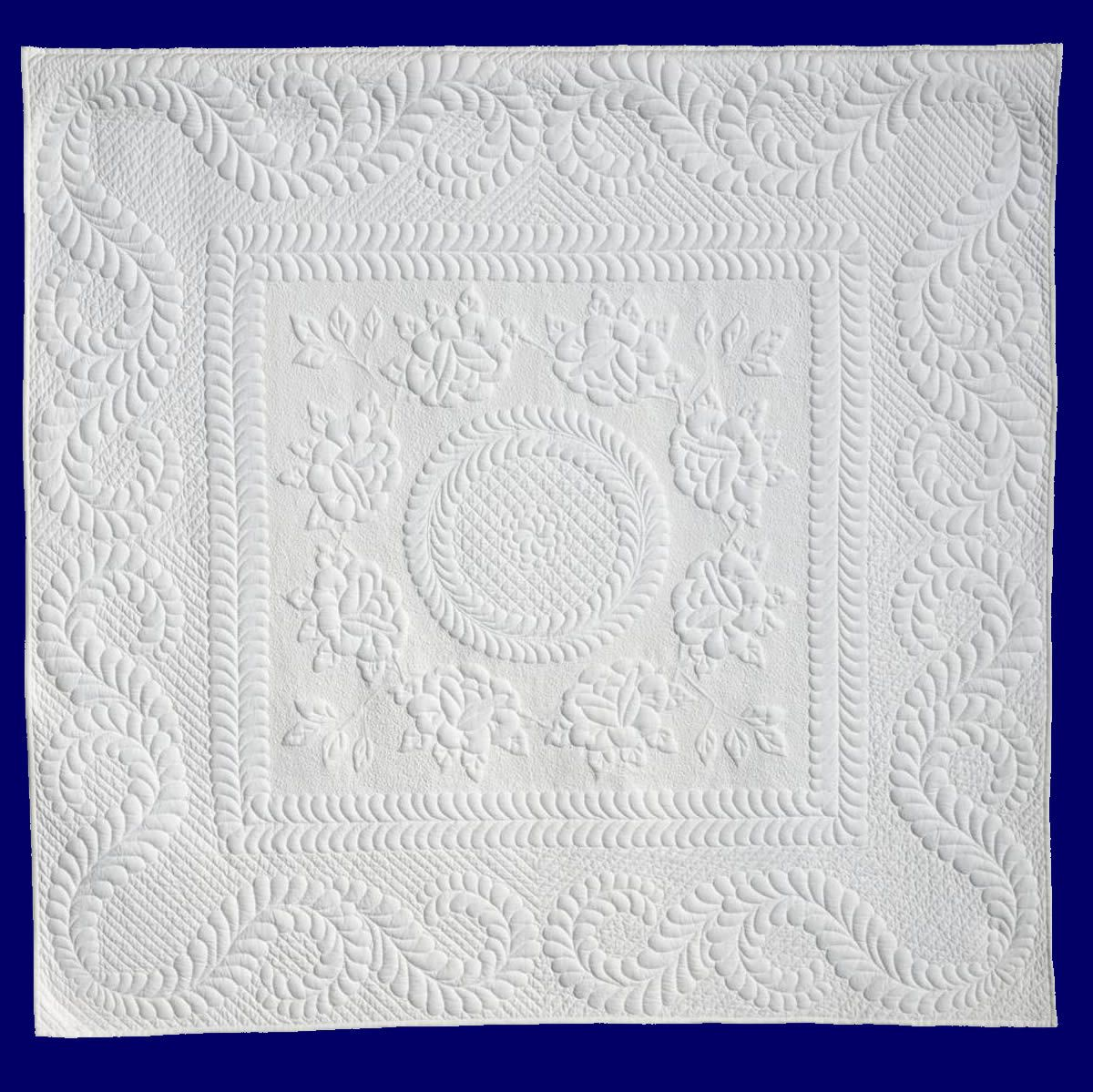 Learn to quilt....  I love this Trapunto quilt!
