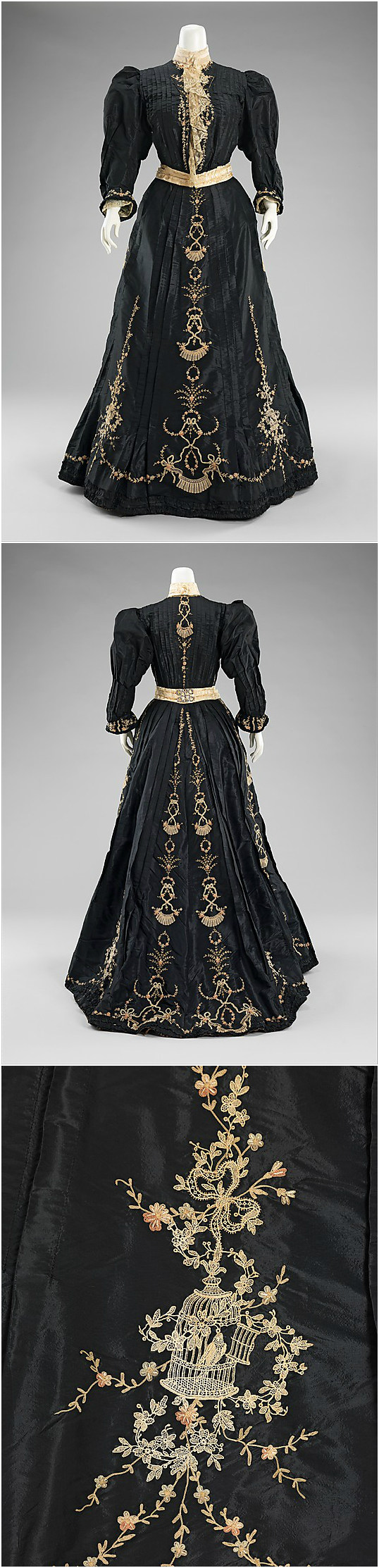 Dinner dress, 1890-95, at the Met. See: http://www.metmuseum.org/collection/the-collection-online/search/159292?rpp=60&pg=18&ao=on&ft=*&deptids=8&when=A.D.%2B1800-1900&what=Dresses&pos=1030&imgNo=0&tabName=gallery-label