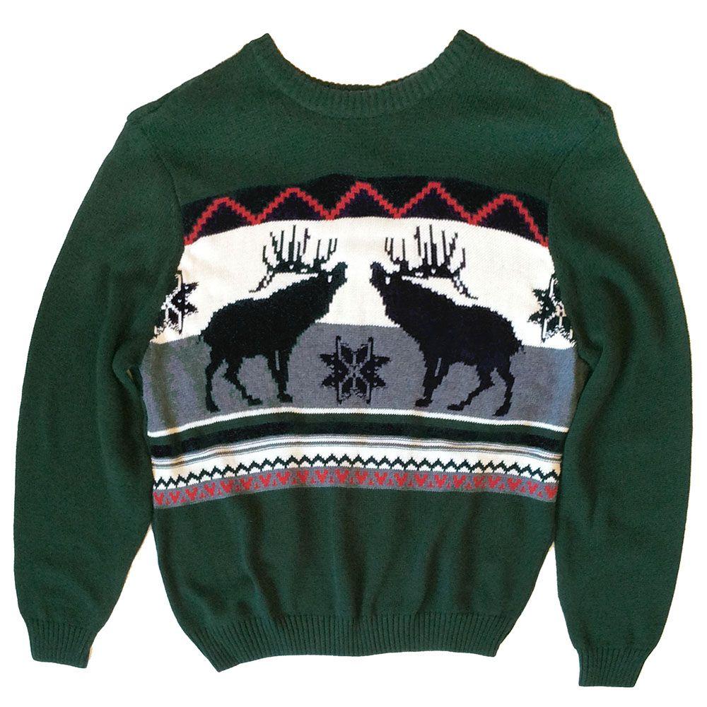reindeer classic nordic ugly christmas sweater - Classic Christmas Sweaters