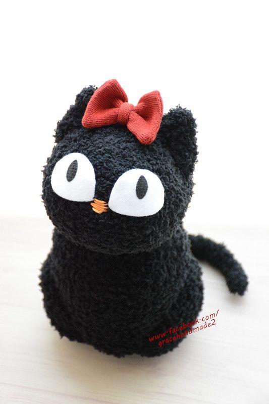 Grace--#379 sock cat | dyi ideas | Sock animals, Sock toys
