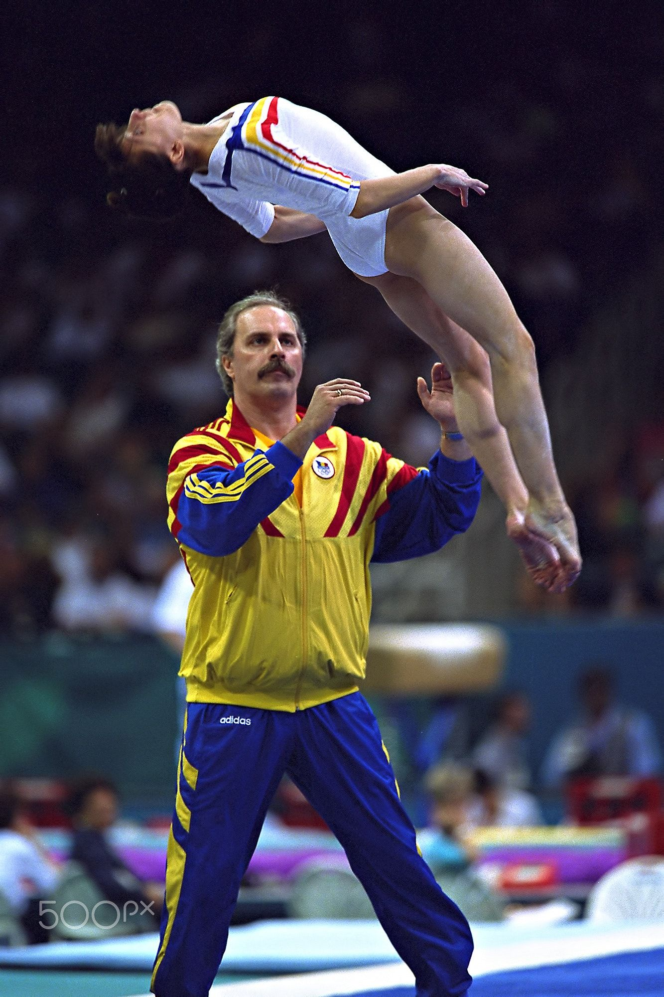 1996 Olympics Coach Octavian Belu Romania During Warm Ups For The Floor Exercise At The 1996 Olympics Romanian Olympics 2000 Olympics Russian Gymnastics