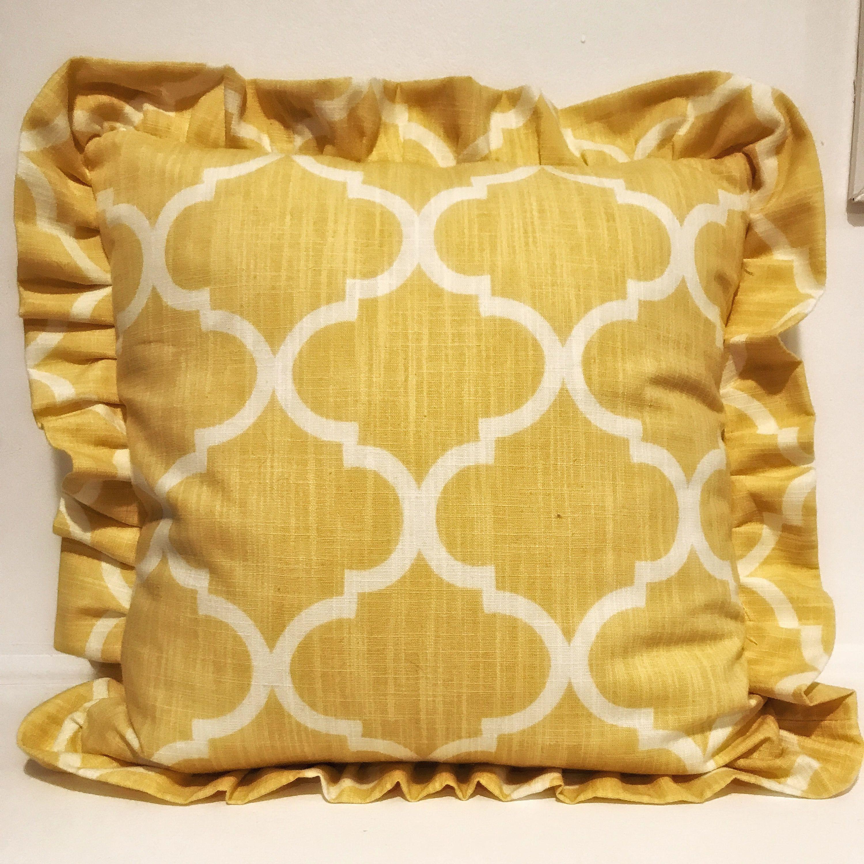 Yellow Ruffle Pillow; Throw Pillow;Decorative Pillow;Pillow Sham ...