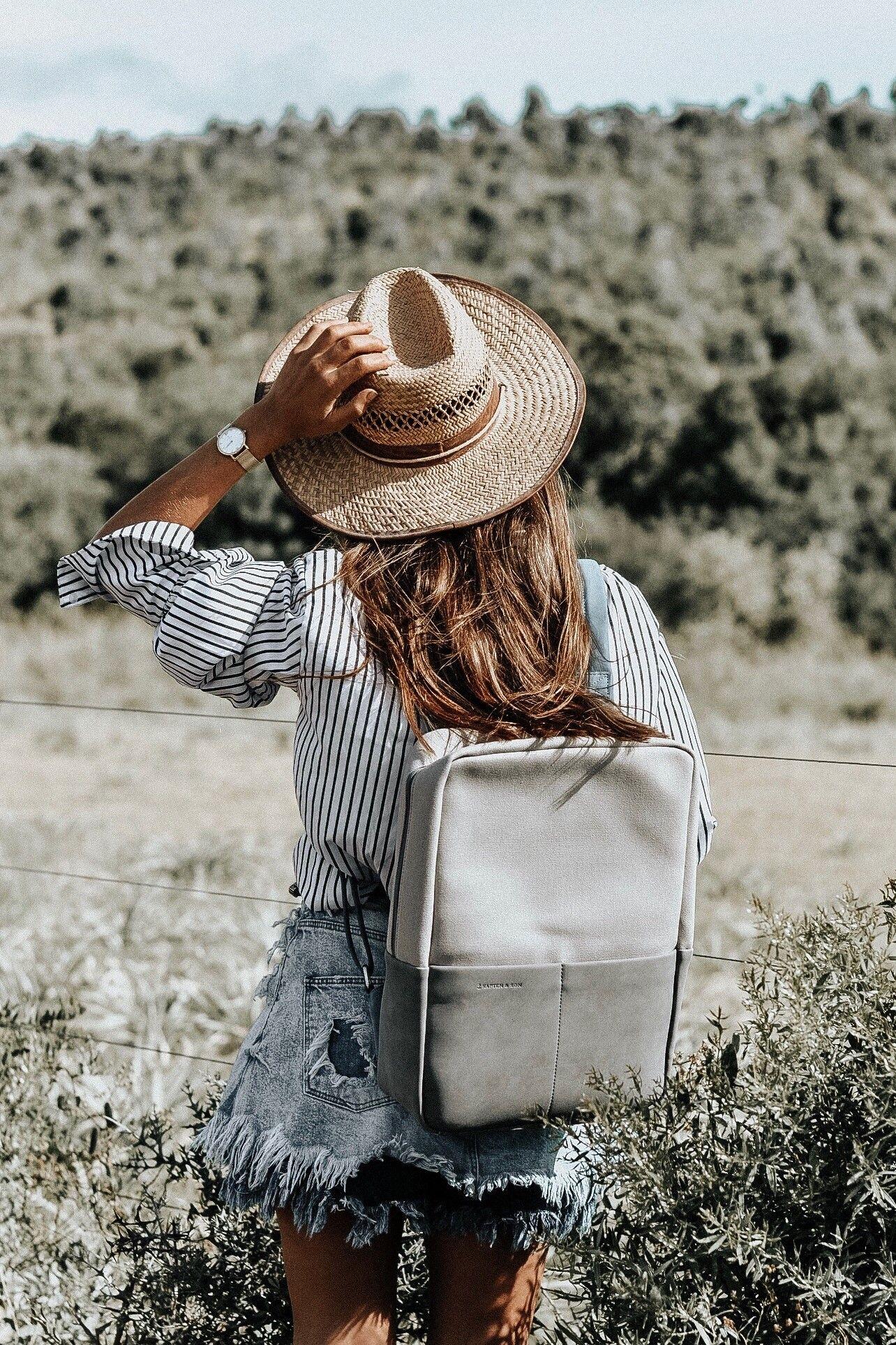 127653ec535 Joy Mesh & Stockholm Grey Blue by Kapten & Son | picture by bydrealeon |  adventure | backpack | urban | rucksack