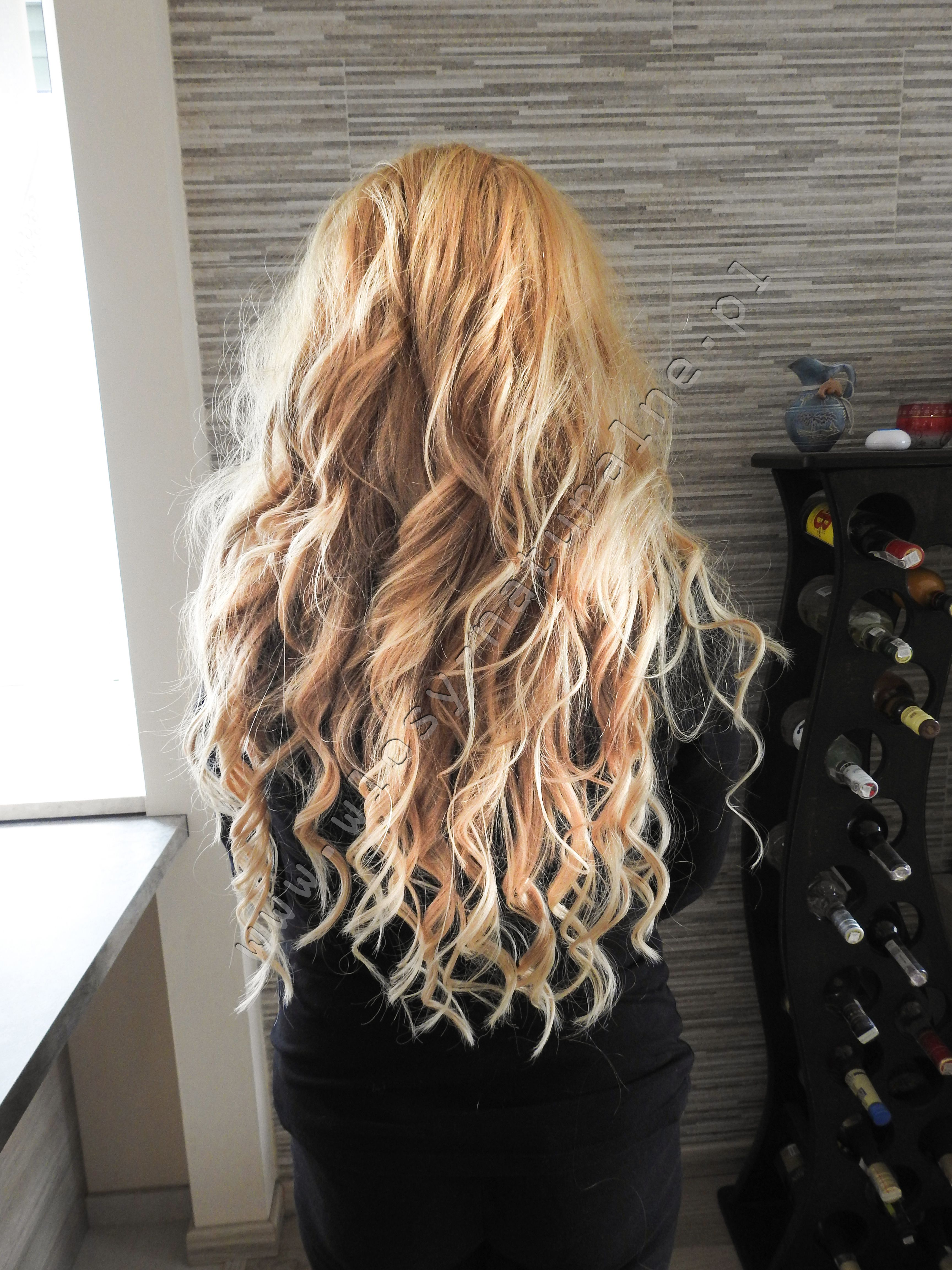 Hair Extensions Blonde Long Hair Curly Hair Wlosy Naturalne
