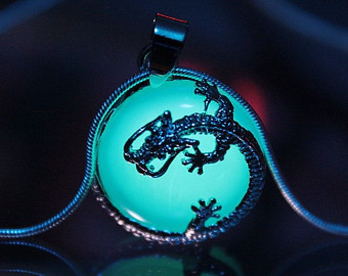 DRAGON surrounding an Opalite GLOW in the DARK