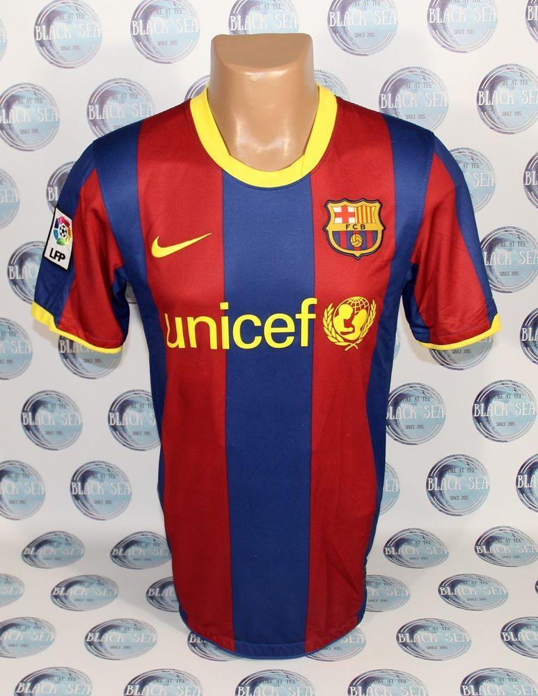 0cafff53142 BARCELONA 2010 2011 HOME FOOTBALL SOCCER SHIRT JERSEY CAMISETA TRIKOT S   Nike  BARCELONA