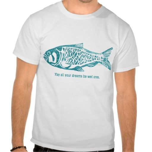 Blue Fish Design Lino Block Print T Shirts | Shirts, Print t ...