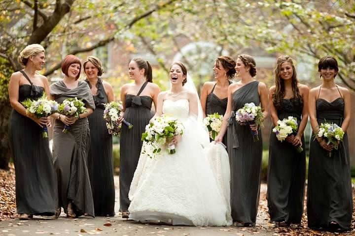 1000  images about bridesmaids on Pinterest | One shoulder, Gray ...