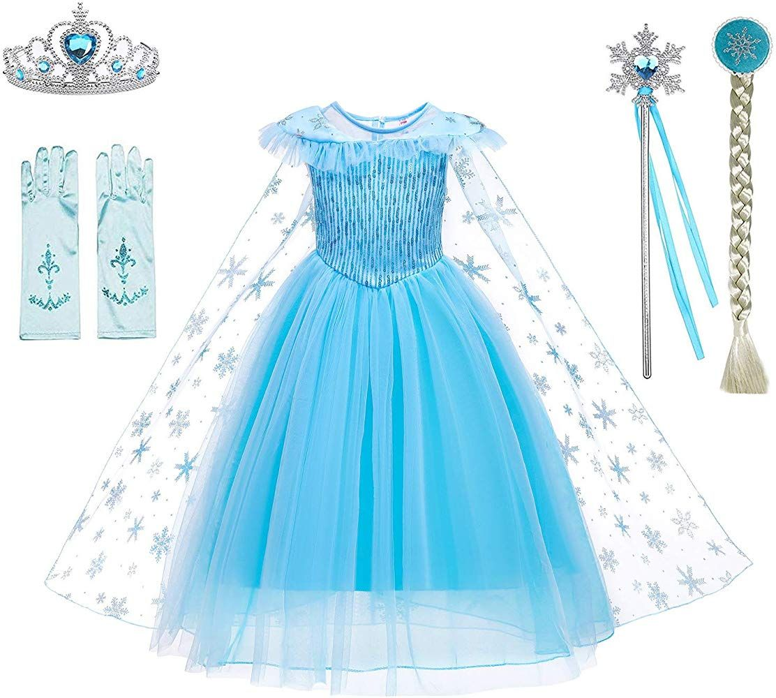 YH New York Elsa Dress for Girls Frozen Princess Costume Kids Cosplay Costumes