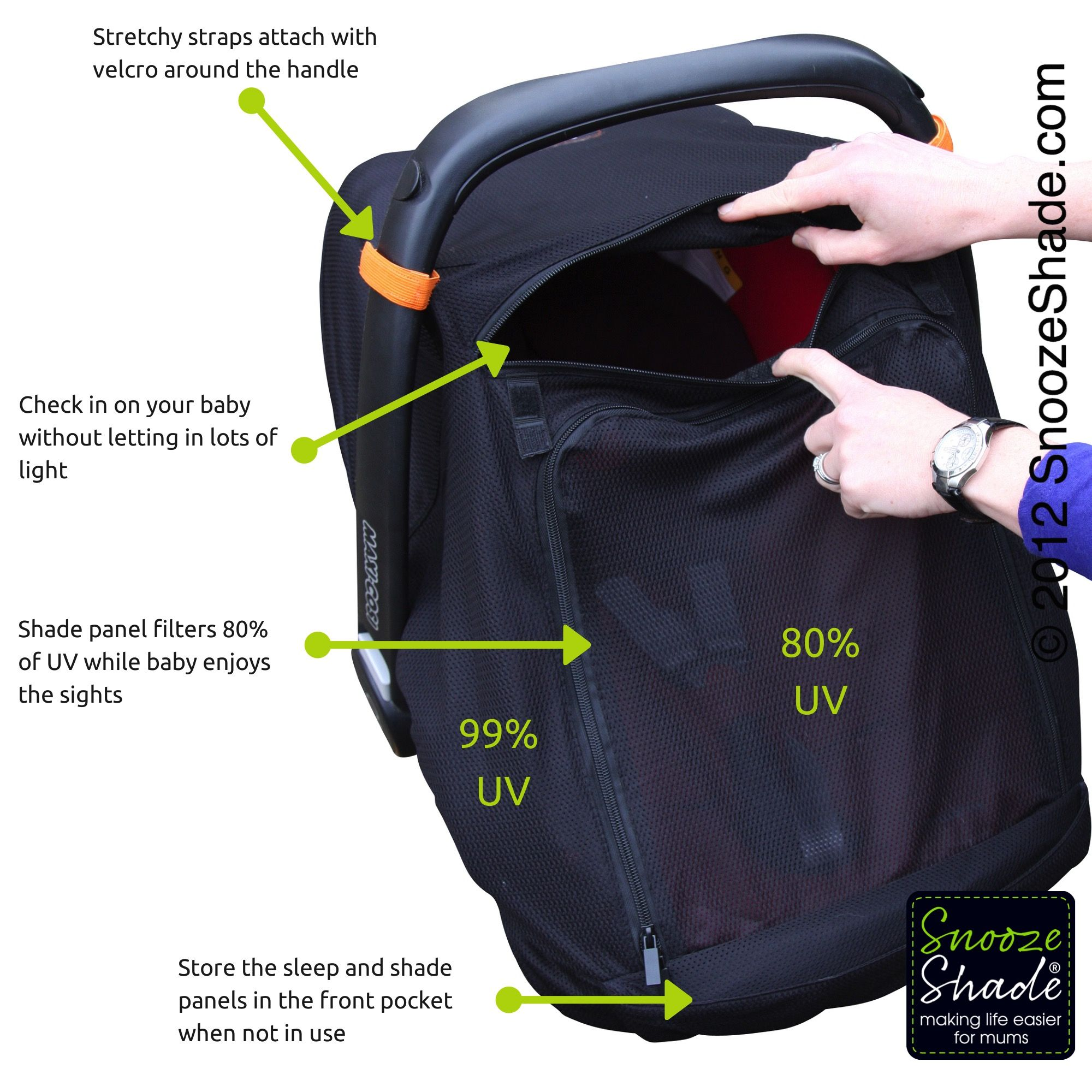 Pin by SnoozeShade on SnoozeShade Car Seat Canopy Baby