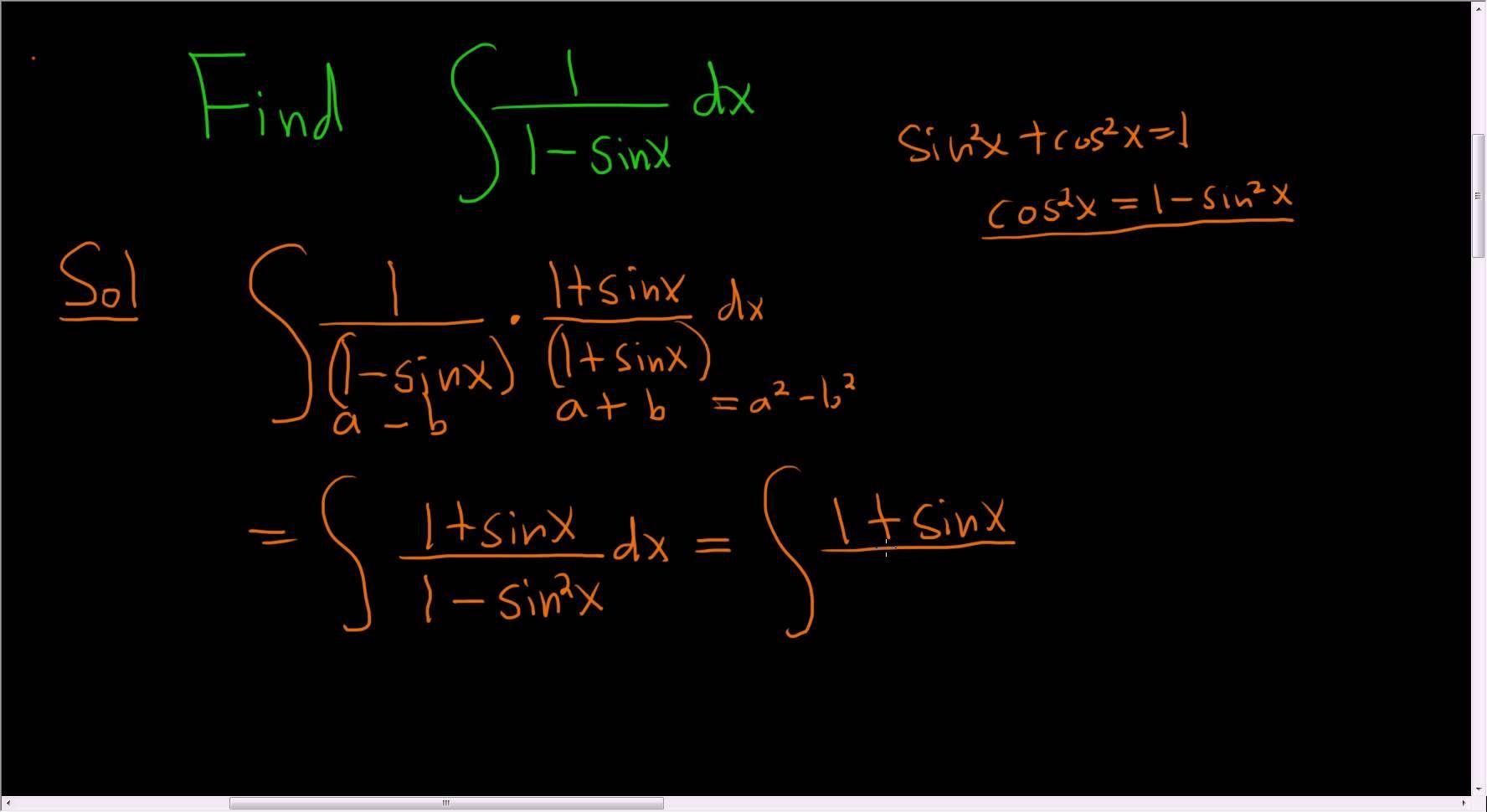 Indefinite integral of 11sinx maths exam calculus