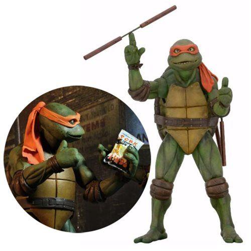 TMNT Movie Michelangelo 1:4 Scale Action Figure - NECA - Teenage Mutant Ninja Turtles - Action Figures at Entertainment Earth
