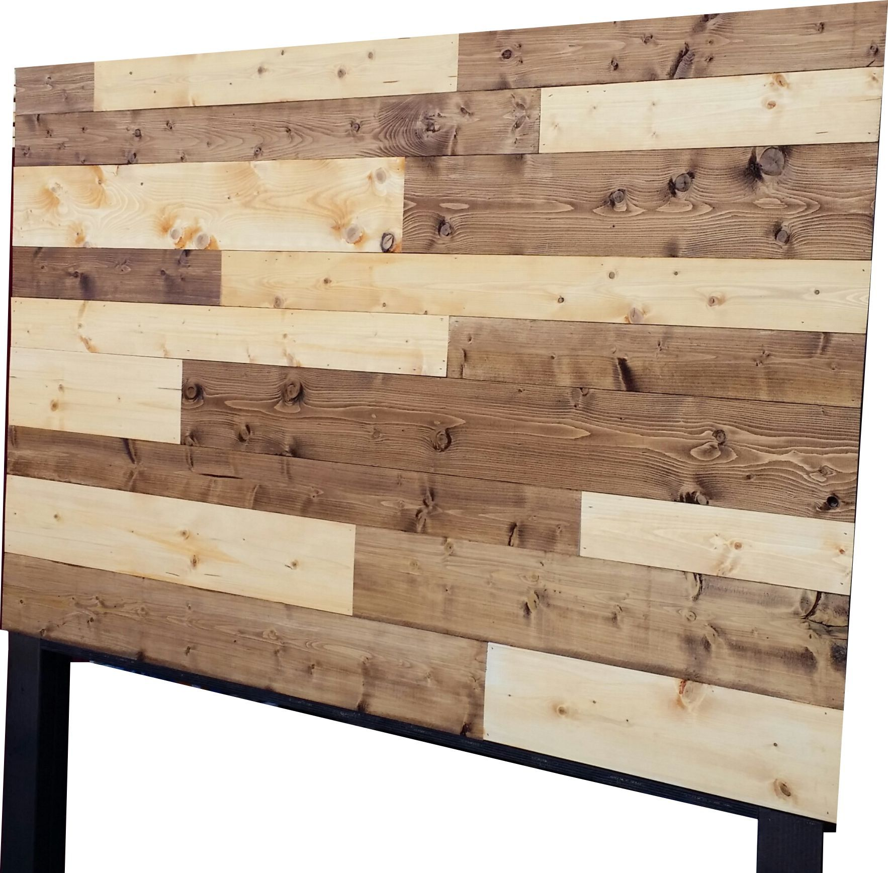 Vintage Headboards 2 Color Stained Plank Wood Headboard Online Ed By Nvy