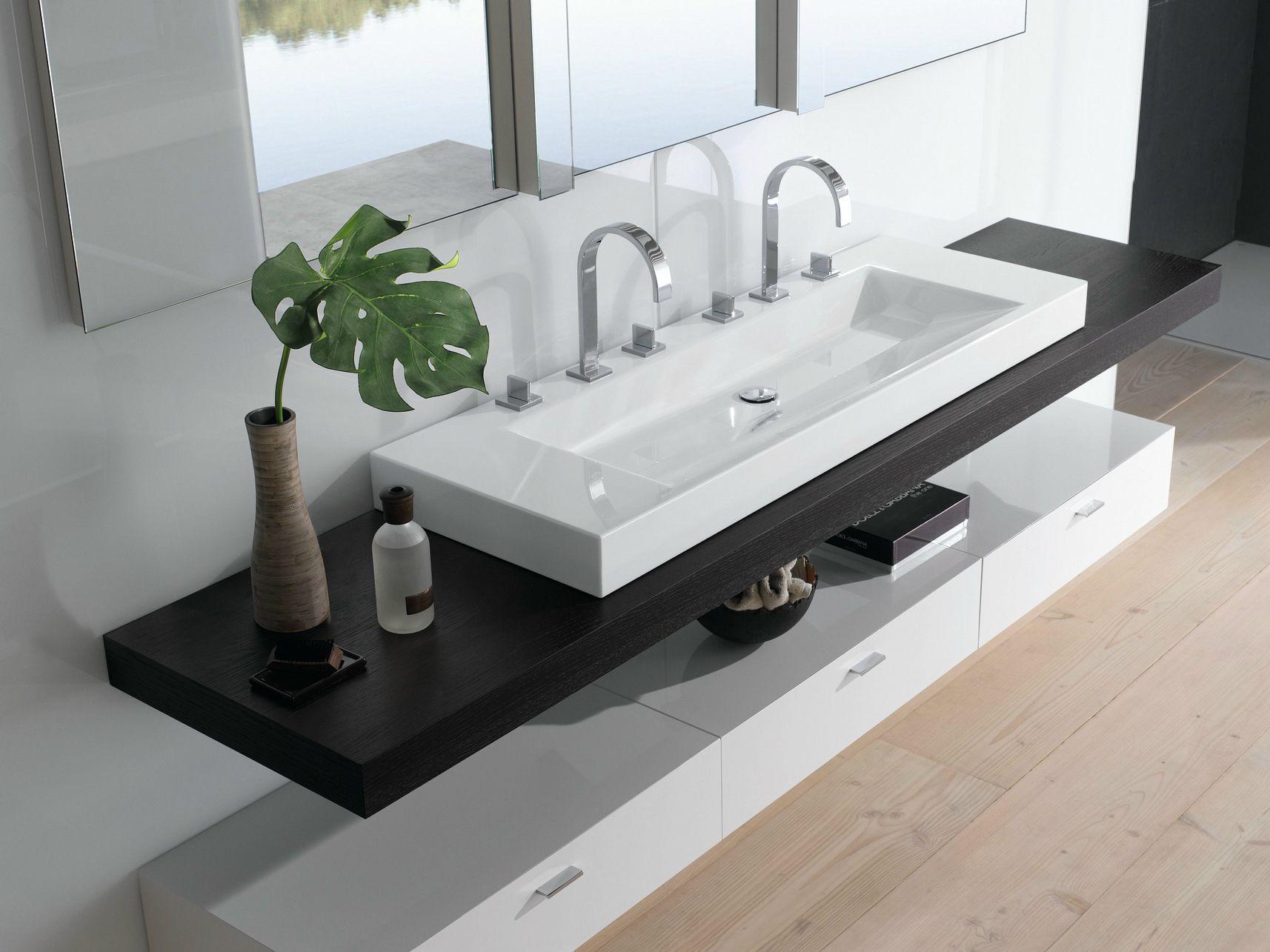 Modernes waschbecken bad in 2019 doppelwaschbecken for Badezimmer ideen doppelwaschbecken