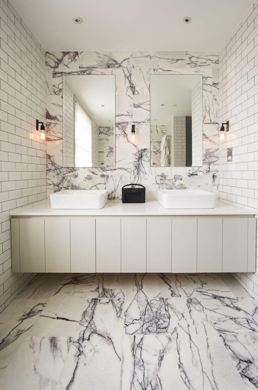 Wow Our Stunning Calacatta Viola Marble Mandarin Stone An Off White Base With A Striking D Marble Bathroom Designs Contemporary Bathrooms Marble Bathroom