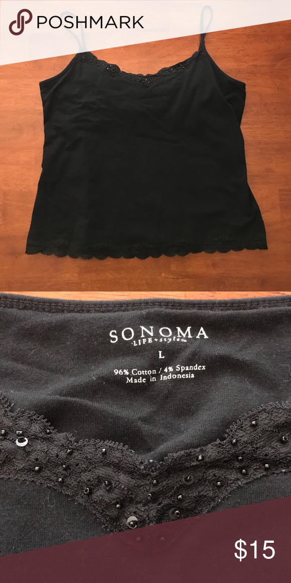 4805ad6b51 Sonoma Lace Tank Top Sonoma black lace camisole with shelf bra inside Feel  free to ask any questions! Sorry
