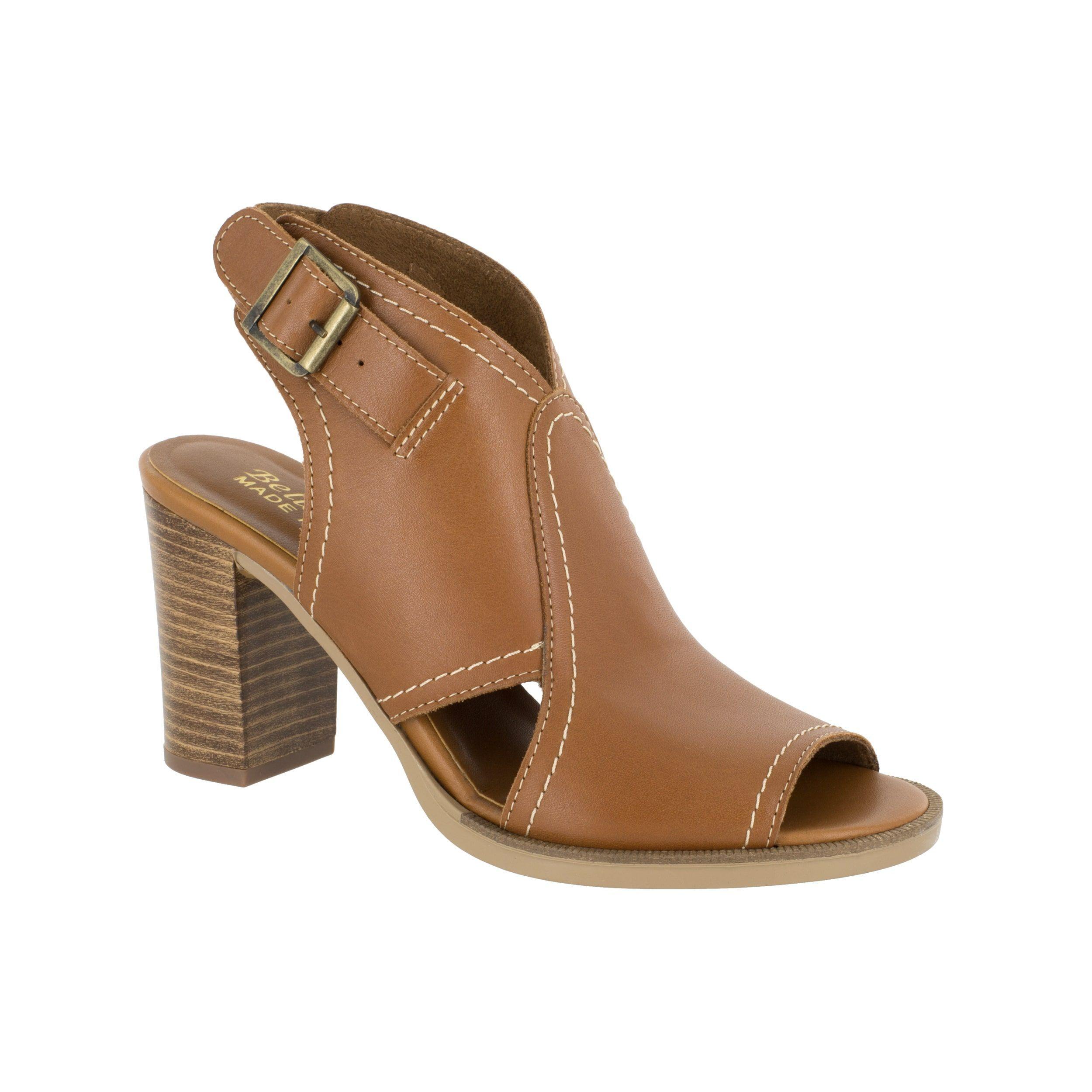 18914ebf2b0 Bella Vita Women s Viv-Italy Whiskey Italian Leather Open-toe Stacked Heel  Sandals