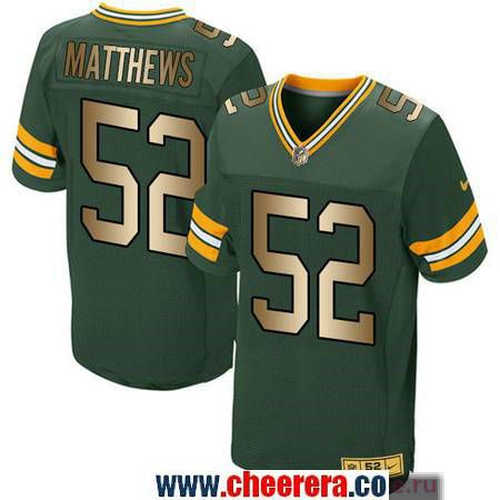 e30aa1dff ... Mens Green Bay Packers 52 Clay Matthews Green Gold Printed NFL Fashion  Collection Pro Line ...