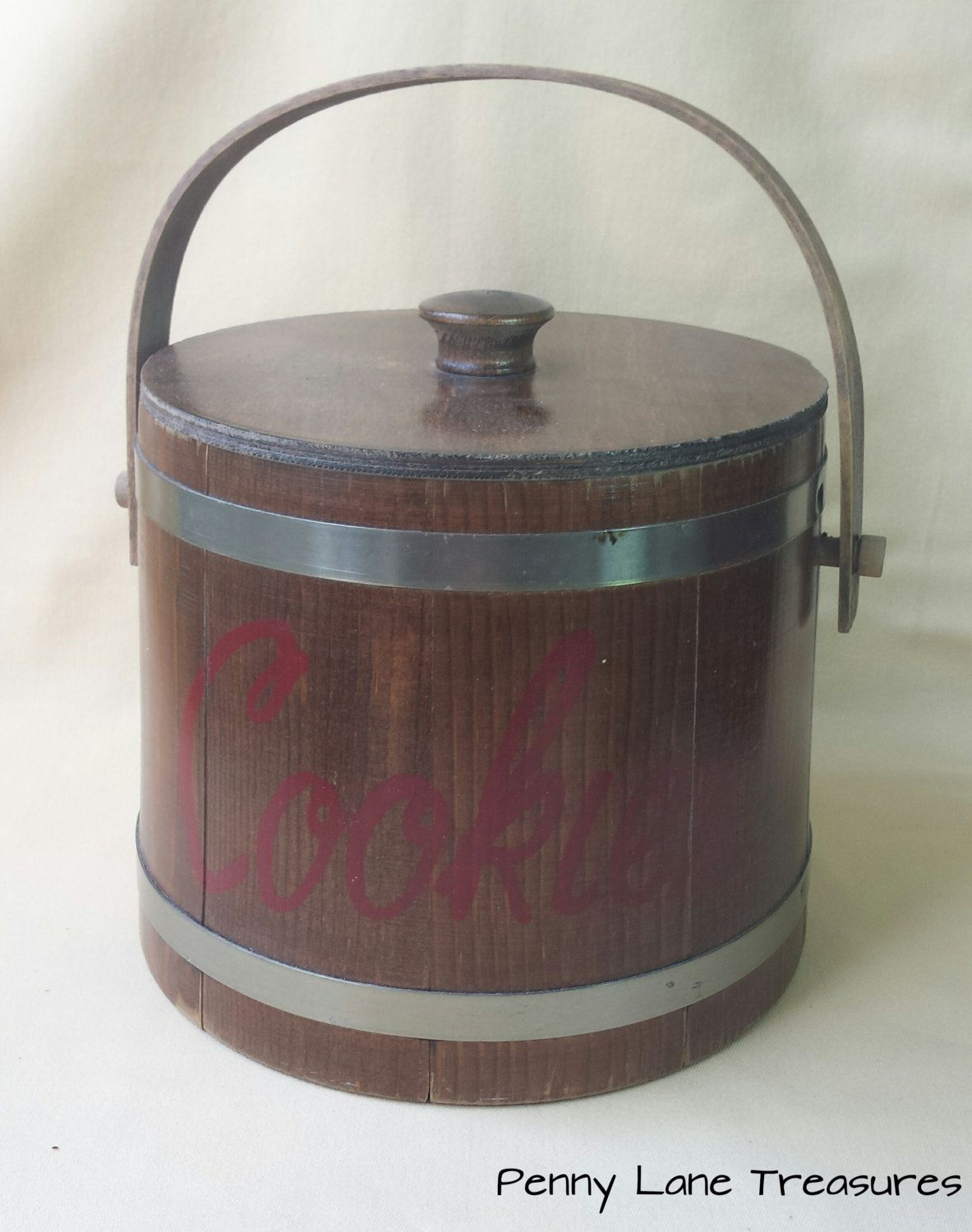 Rustic Cookie Jar Prepossessing Vintage Cookie Barrel ~ Split Wood Cookie Jar ~ Canister ~ Rustic Design Decoration