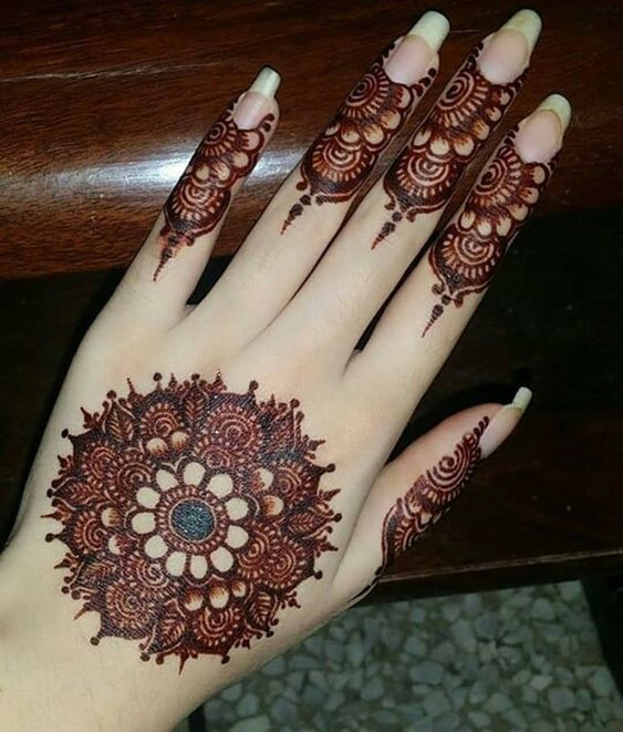 Henna designs easy back hand mehndi desing also arabic for hands attractive cone rh pinterest
