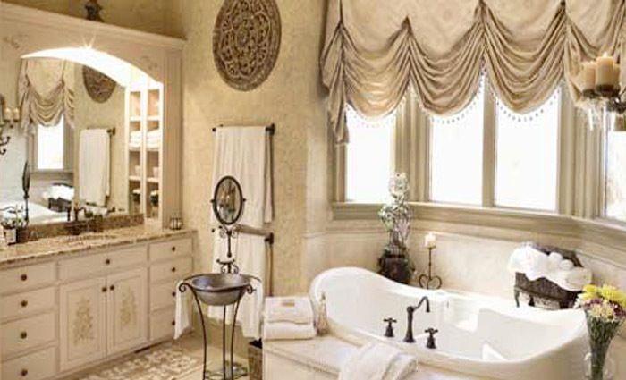 Gordijnen Voor Badkamer : Klassieke badkamer met gordijnen bathroom badkamer