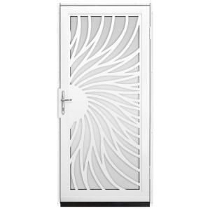 Unique Home Designs 36 In. X 80 In. Solstice White Surface Mount Steel Security  Door With Shatter Resistant Glass And Nickel Hardware IDR31000362154   The  ...
