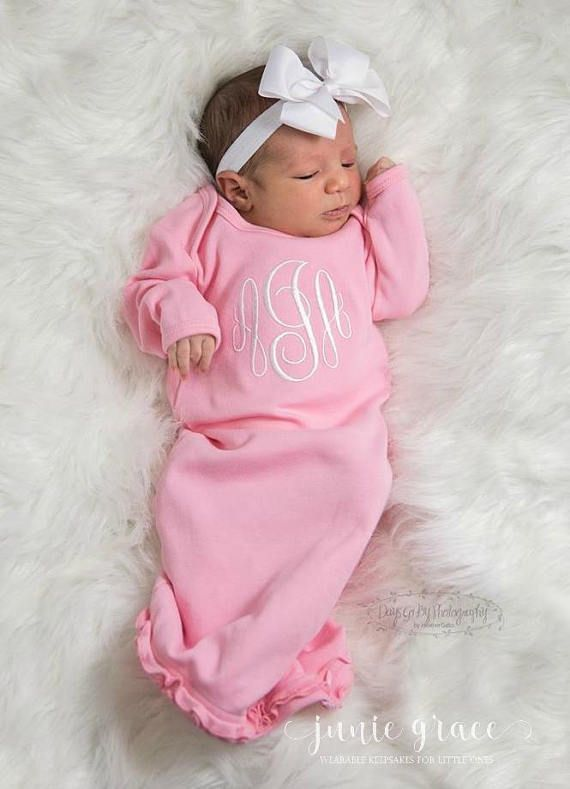 Junie Grace Newborn Girl Coming Home Outfit Baby Girl - personalized ...