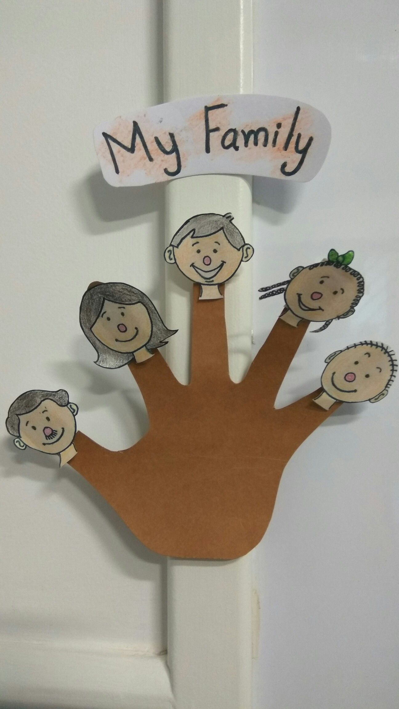 My Family Finger Puppets Com Imagens Artesanato Arvore