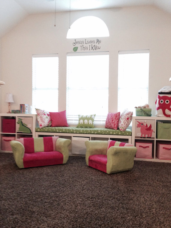 Ikea Kallax Custom Cushion for Nursery, Playroom , Organization Bench Cushion Seat Expedit Replacement