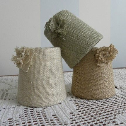 Burlap as a lampshade cover? for the living room summer decor