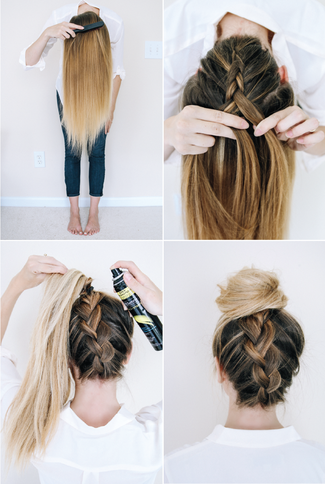 14 Ridiculously Easy 5 Minute Braided Hairstyles Model Hair Hair Styles Braided Hairstyles Easy