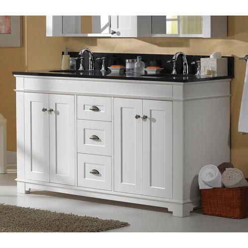 """White Kitchen Cabinets At Menards: Magick Woods 60"""" Charlotte Collection Vanity Base At"""