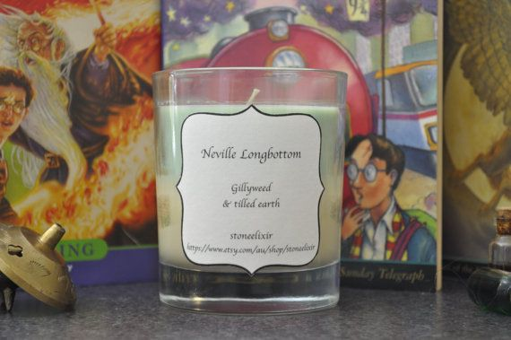 Harry Potter  Neville Longbottom geek candle by stoneelixir, $15.00