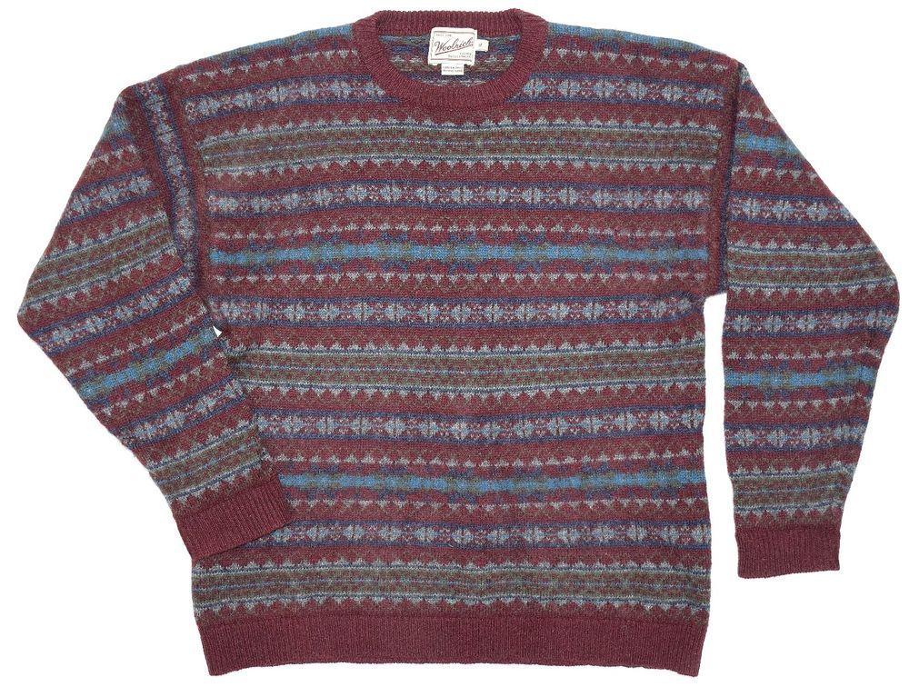 US $31.79 Size XL Vintage Woolrich Burgundy Hand Framed Nordic ...