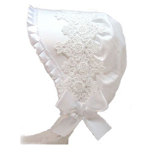 Luxury Baby Toddler infant kids White bonnet hats New borns gift 3 24 months