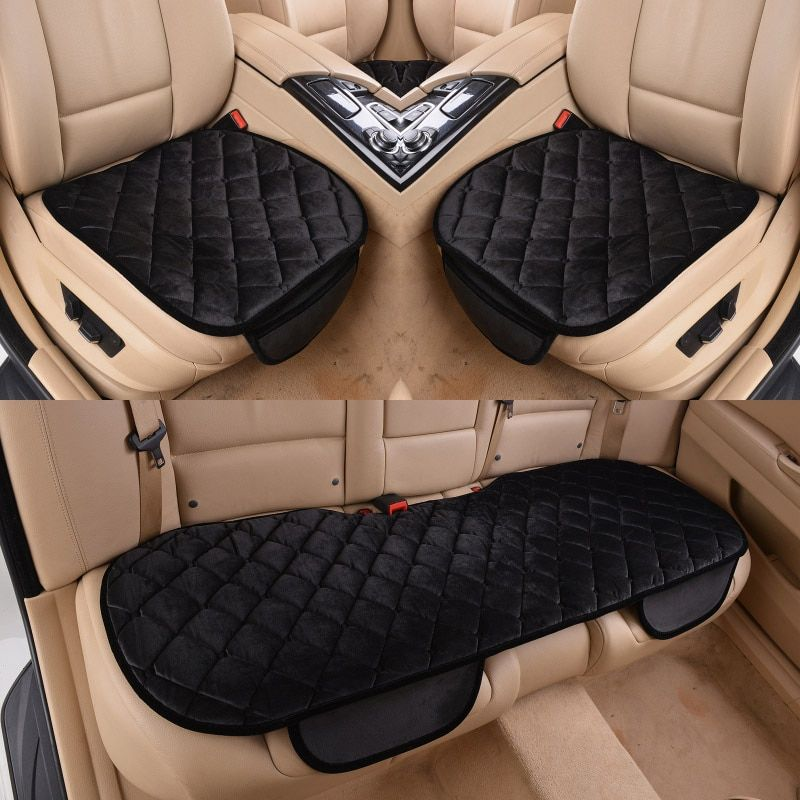 Car Seat Cover Cushion Winter Universal Front Back Seat Covers Car