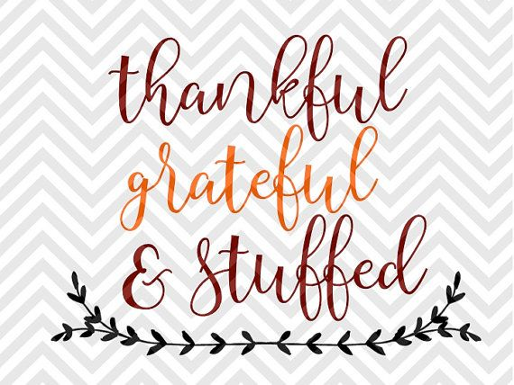 Thankful Grateful Amp Stuffed Thanksgiving Blessed Laurel