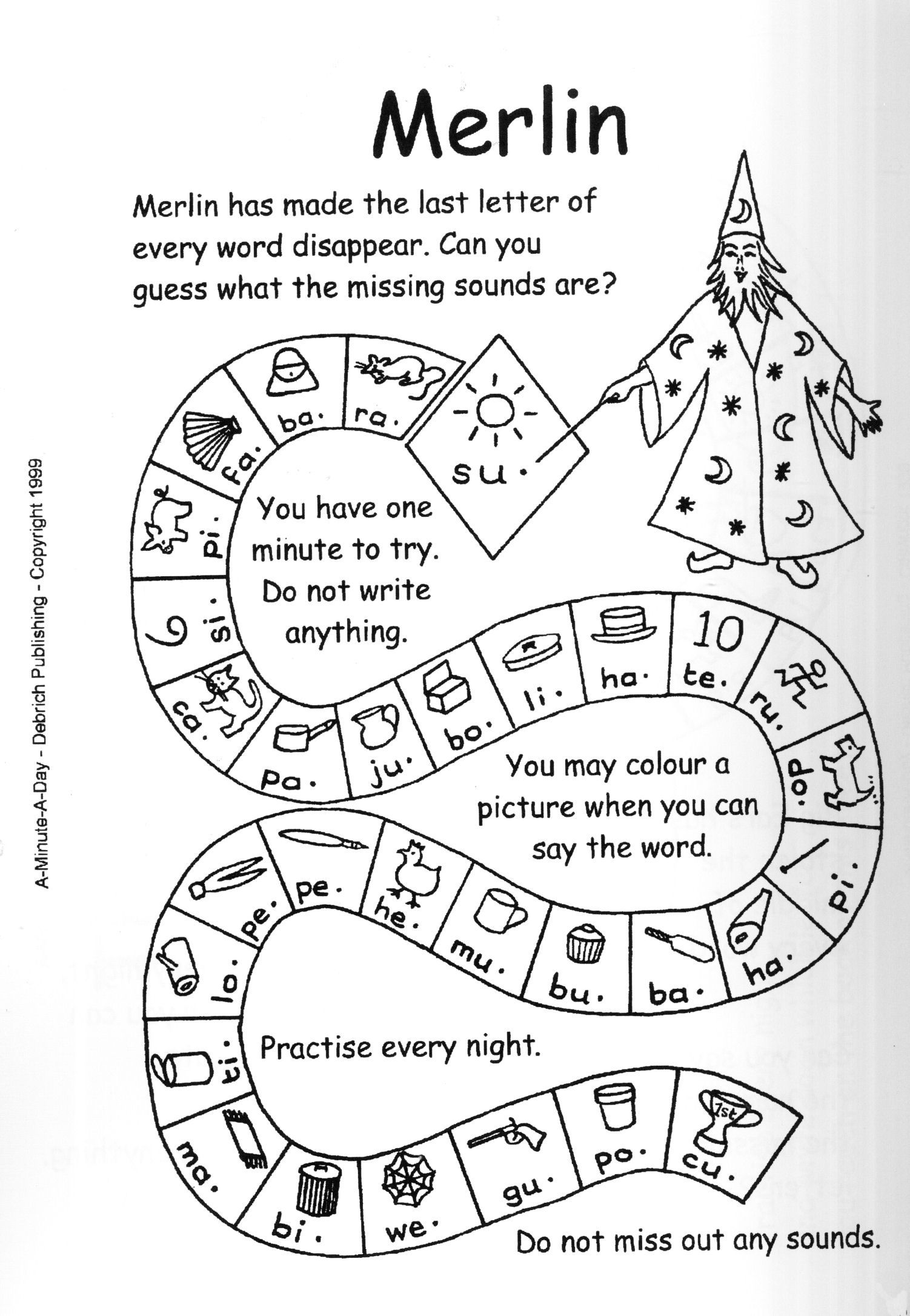 Homework can be fun! 1 minute phonics challenges for
