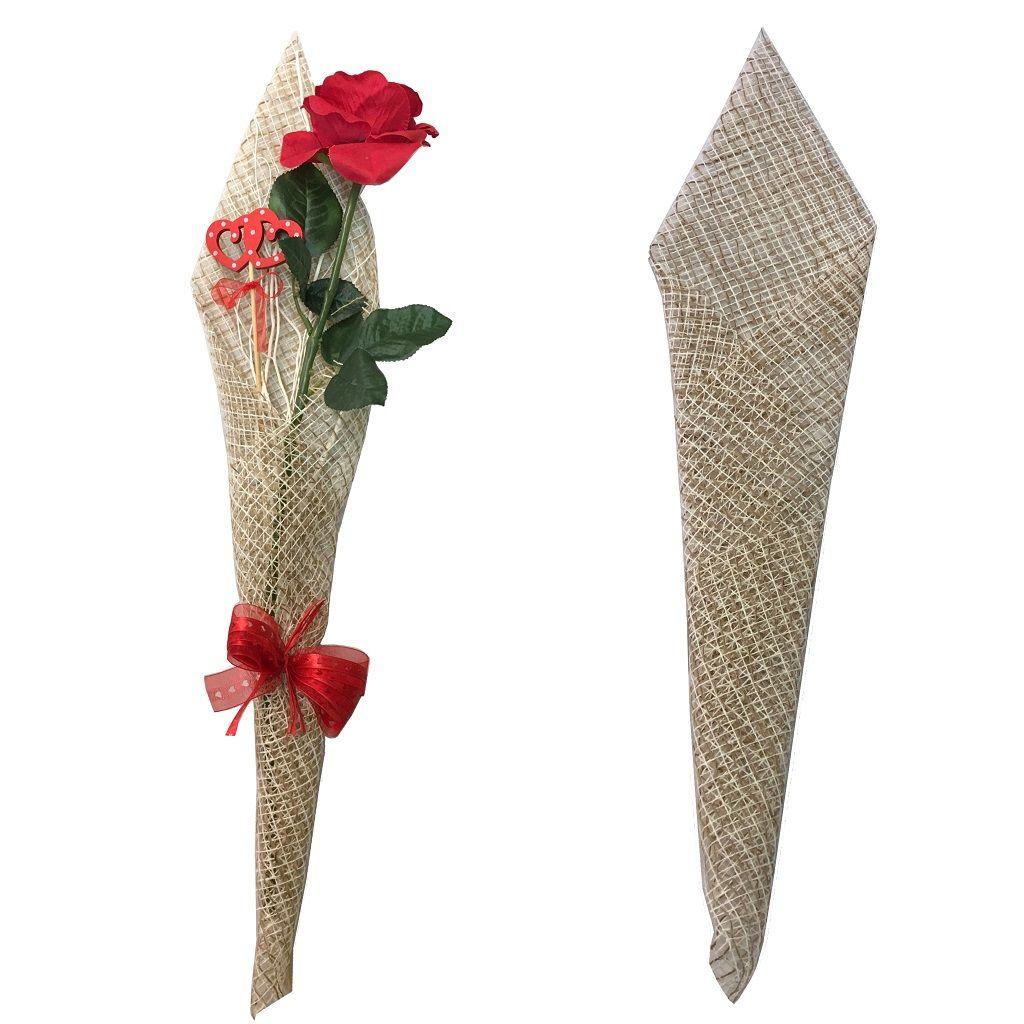 Envoltorio Para Una Rosa Individual Arreglos De Flores De San Valentin Ramo De San Valentin Envoltura De Flor