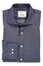 Todd Snyder White Label Trim Fit Denim Dress Shirt