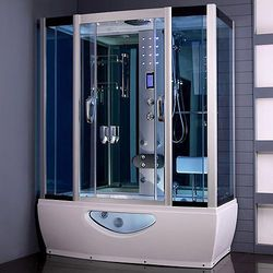 Crown Steam Shower Cubical With Whirlpool Bath 1650x800mm