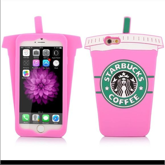 Starbucks cup case Cute Starbucks coffee cup 3D soft silicone case new in package for iPhone 6 Accessories Phone Cases