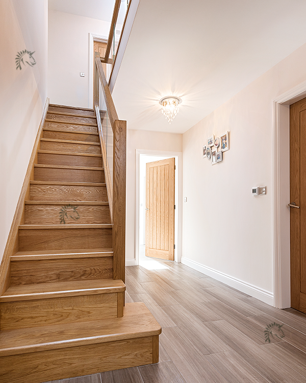 Glass Infill Photo Gallery: Preston Staircase With Solid Oak Treads And Risers With Glass Infill (With Images)