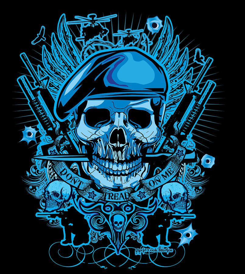 David Cook Studios Army Ranger Military Skull | SKULLS ...