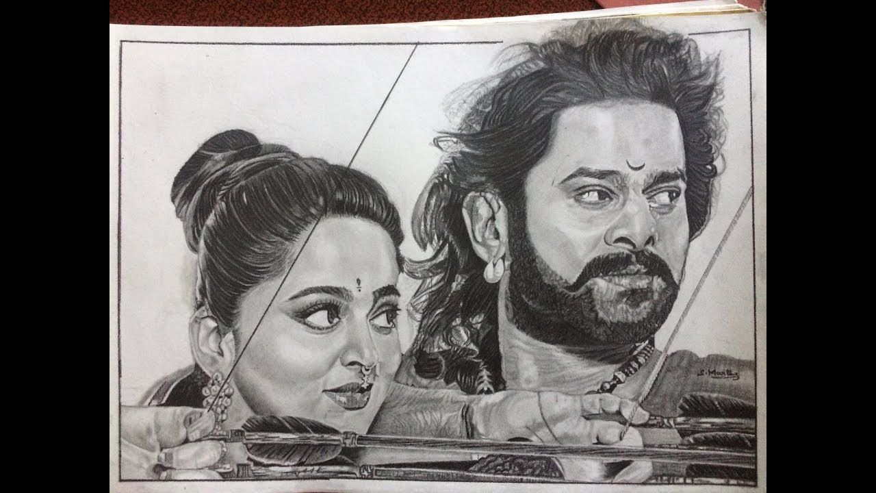 Bahubali 2 the conclusion i drawing prabhas and anushka drawing bahuba