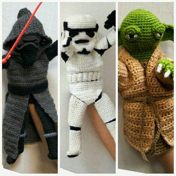 Star Wars Crochet Toy Hand Puppet Patterns by stepbystepatterns ...